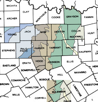 North Texas Geological Maps - North texas map